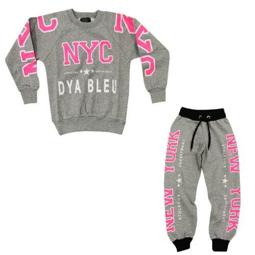 Kids NYC Sweatshirt Top /& Bottoms Tracksuit US1520