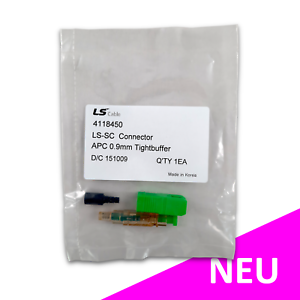 SC APC feldkonfektionierbarer LWL Stecker Glasfaser 250µm 0,9mm