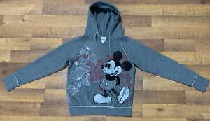 Walt-Disney-World-Disneyland-Resort-Mickey-Mouse-Pullover-Hoodie-Women-M-GrayEUC