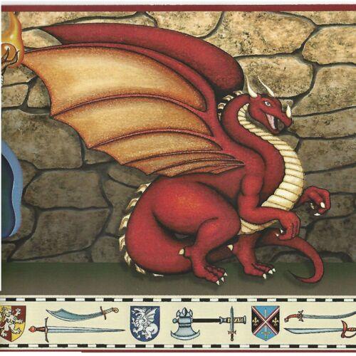 A422 Dragon Knights /& Wizards Wallpaper Border Fantasy Games by Chesapeake