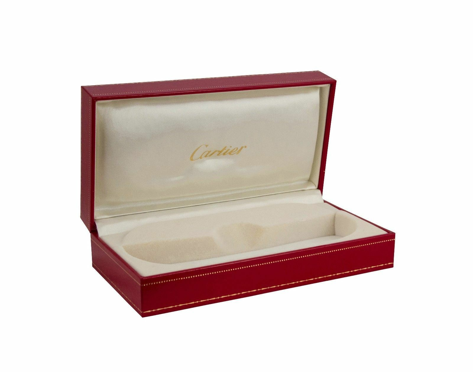 1738fa766a Cartier Square Brushed Pale Gold Eyeglasses T8100430 Frames Authentic France  for sale online