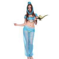 Costume Tenue Nuit Arab Princesse Danseuse Danse Voile Ventre Jasmin Orientale