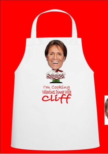 Cliff Richard Novelty Valentine Chefs Apron Valentine Gift Novelty Apron