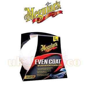100% Vrai Meguiars Even Manteau Applicateur Microfibre Pad Double Pack CoûT ModéRé