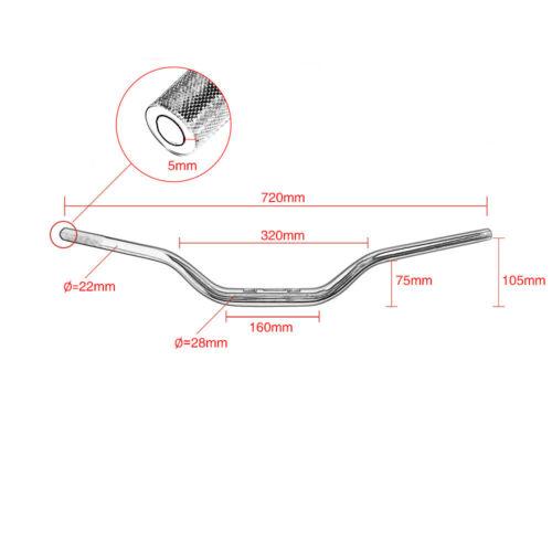 Universal for RIZOMA Aluminum Alloy Sand Blasting Finished Handlebar 72CM*28MM