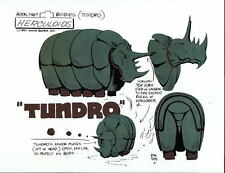 The HERCULOIDS - TUNDRO MODEL SHEET PRINT Hanna Barbera Alex Toth art