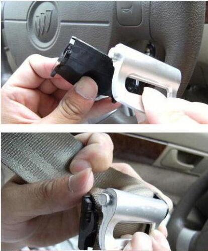 Silver Honda siège réglable clip ceinture sécurité bouchon Voyage Voiture 2 Pcs
