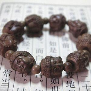 Fragrant-Agar-wood-Carved-Gautama-Buddha-Head-Buddhist-Prayer-Bead-Mala-bracelet