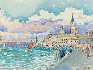 HENRI-EDMOND-CROSS-FRENCH-VENICE-OLD-ART-PAINTING-POSTER-PRINT-BB5610A