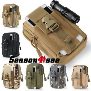 Concealed Carry Pack Tactical Molle Waist Phone Pouch Bag Waterproof Sports Bag
