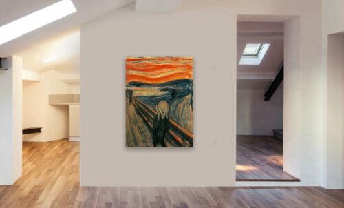 Various Sizes EDVARD MUNCH THE SCREAM Canvas Wall Art Framed Print