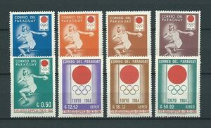 LATIN-AMERICA-PARAGUAY-1964-MI-1265-a-1272-TIMBRES-NEUFS-MNH-LUXE