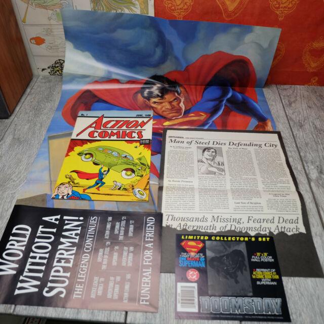 1992 The Death of Superman – Action Comics w/ Poster READ READ DESCRIPTION