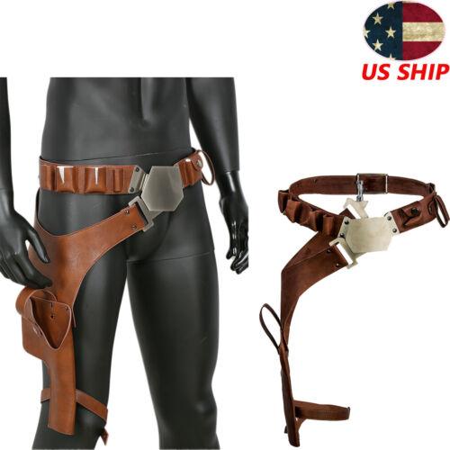 Han Solo Belt Star Wars Cosplay Costume Prop Holster Gun Strap Replica Leather