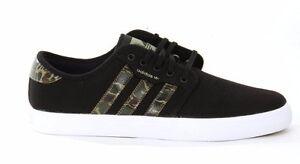 Adidas SEELEY Black Dark Clay Camo Discounted (227) Skateboarding Men's Shoes