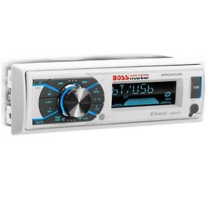 BOSS Marine AUDIO MR632UAB Single-DIN Bluetooth Marine Detachable Face Receiver w/Remote Canada Preview