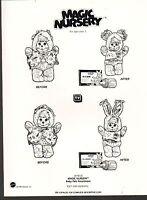 1991 Vintage Ad Sheet 1394 - Mattel Toys - Magic Nursery Baby Pets