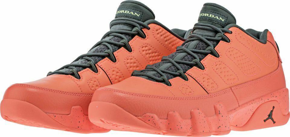 18ab80ebf83ad3 Nike Nike Nike Air Jordan 9 Retro Low SZ 10.5 Bright Mango Hasta Ghost Green  832822
