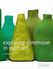 Exploring Dimension in Quilt Art by C. June Barnes (2015, Hardcover)