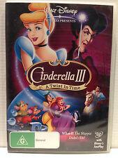 WALT DISNEY ~ CINDERELLA III / 3 ~ A TWIST IN TIME ~ DVD ~ PAL REGION 4