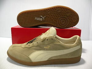 PUMA LIGA SUEDE LOW SNEAKERS MEN/WOMEN SHOES BEIGE/GUM 341466-12 SIZE 7 8.5 NEW