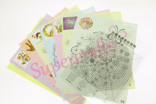 Pack of 16 Supercrafts UK Paper Templates for Quilling