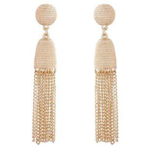 Women-039-s-Elegant-metal-chain-Long-Tassel-Earrings-Ear-Stud-Jewelry-Gift