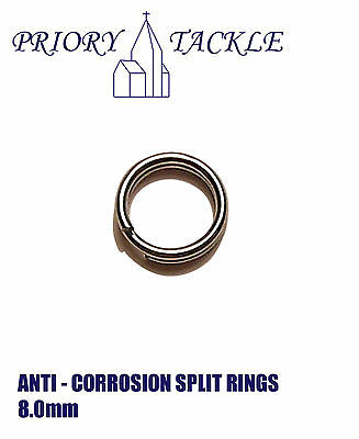 8mm Anti Corrosion Coated Stainless Steel Split Rings