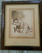 Framed Print of Rembrandt Van Rijn's Drawing of a 'Young Woman Sleeping'