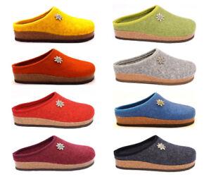 ultima vendita scegli genuino Scoprire Dettagli su BIO ALPES 977 Ciabatte Pantofole Tirolese Donna Lana Cotta  Feltro Panno Tirolesi