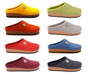grande varietà vendita calda online shop Dettagli su BIO ALPES 977 Ciabatte Pantofole Tirolese Donna Lana Cotta  Feltro Panno Tirolesi