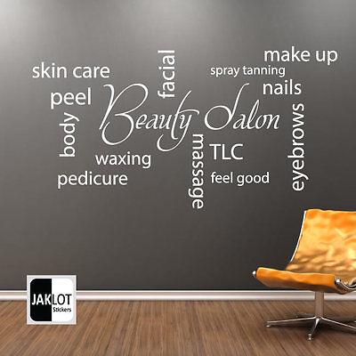 Beauty Salon Collage Wall Art Picture Vinyl Sticker - Hair Beauty Salon