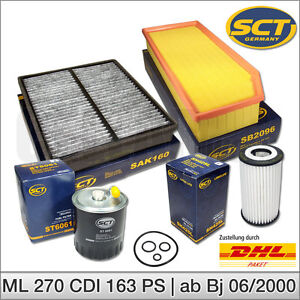 MERCEDES-Benz-classe-M-w163-ML-270-CDI-inspection-paquet-jeu-de-filtres-Filtre