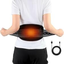 Electric USB Heating Waist Back Brace Support Belt Pad Warm Therapy Pain Relief