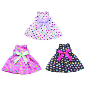 Bowknot Dress Clothes for 14/'/' American Doll Doll Bubble Dress Skirt Outfit Accs