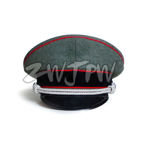 WWII WW2 German Army Cap Greyish-green Officer Large Brimmed Hats Woolen