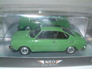 1/43 Skoda 110 R Coupe En Vert, Neo 874250444873