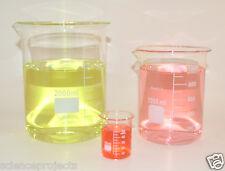 Beaker set 2000 1000 50 mL Griffin Graduated Borosilicate Glass Beakers Lab New