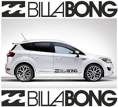 2 x BILLABONG LOGO Car Graphic Sticker Decals Vinyl Camper Van Surf | C6