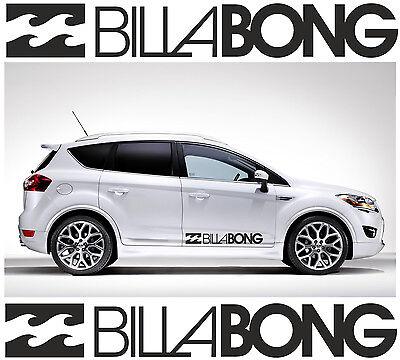 2 x BILLABONG LOGO Car Graphic Sticker Decals Vinyl Camper Van Surf | C6