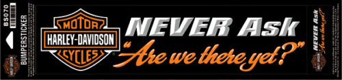 """Decal /""""There yet?/"""" *BS070* Harley-Davidson Aufkleber"""