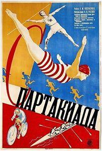 Vintage-Russian-Propaganda-Poster-USSR-Communist-Sports-Health-Art-Print-A3