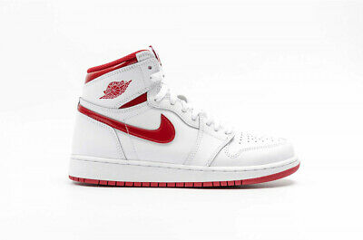 NIKE AIR JORDAN 1 HIGH RETRO OG GS * WHITE / VARSITY RED * 575441 103 * UK 5   eBay