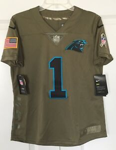 online store 16d51 c1dde Details about New Women's Nike Authentic Carolina Panthers Cam Newton  Jersey MEDIUM 882738 236