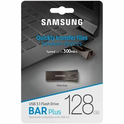 Samsung USB Flash Drive 128 GB USB 3.1 Up to 300 MB//s Fit Plus Silver