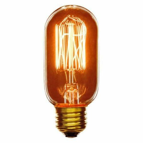 Sunlite #02042  40w 120v T14 Antique Style Smoke Finish Edison Base 3 Bulb Pack