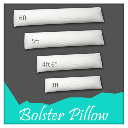 Extra Filled Bolster Pillow Non-Allergenic Orthopedic Pregnancy Nursing Support