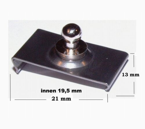 Windshield Clip für 19,5 mm Scheibenrahmen  für alle Tenax und Loxx Oberteile