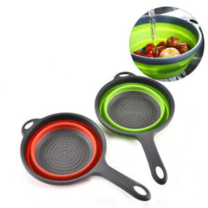 Silicone-Folding-Plastic-Colander-Drain-Basket-Fruit-Vegetable-Washing-Strainer