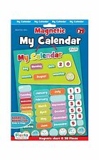 Fiesta Crafts My Calendar Magnetic Chart & 38 Pieces With Hanging Rope Kids Gift